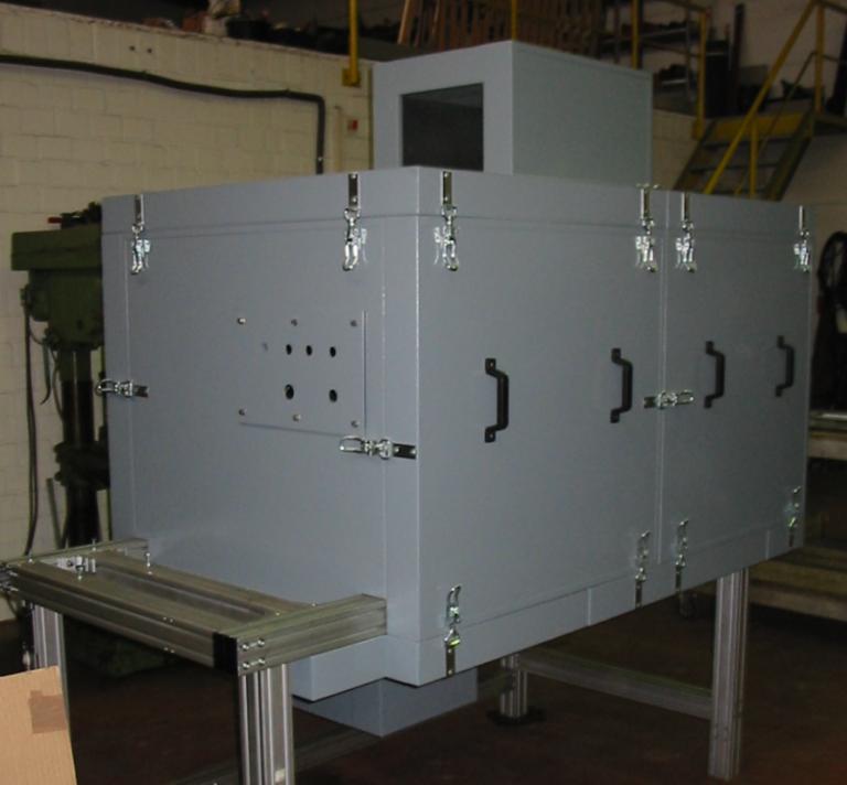 Einkapselung Hydraulikaggregat demontierbar Pulverbeschichtet in RAL Ton nach Kundenwunsch