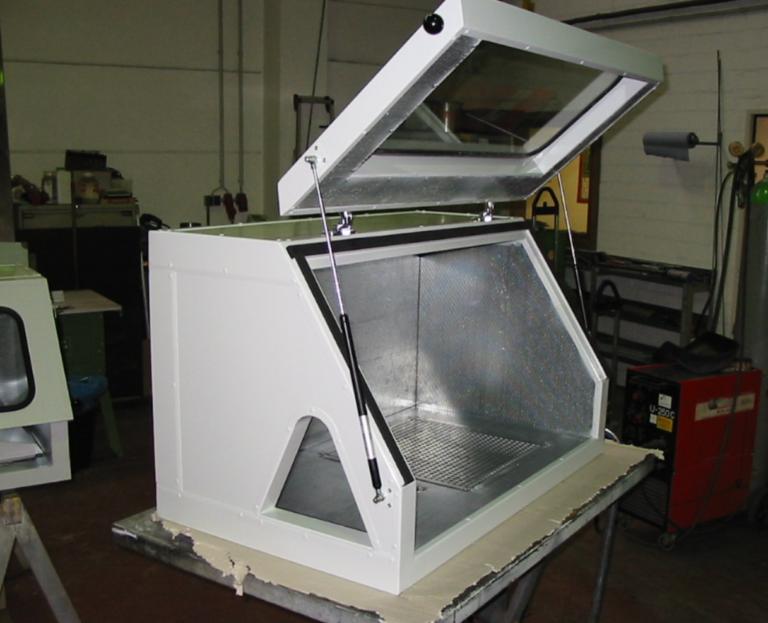 Schleifhaube Luftfahrt, Nach Kundenvorgaben gefertigt, zum schleifen von Triebwerksteilen